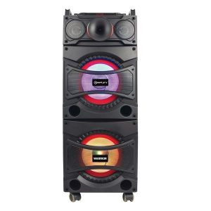 """Amplify Warrior series Double 10"""" Bluetooth Party Speaker with Microphone"""