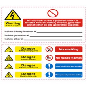 Battery Hazard label  ( 160mm*90mm x2 )