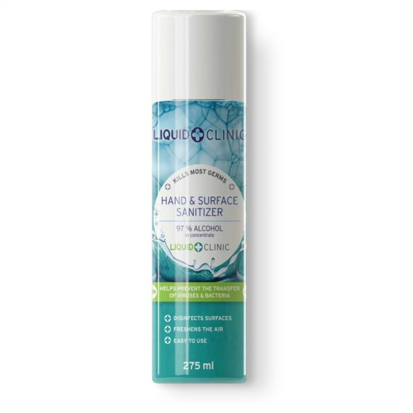 Liquid Clinic 275 ml Hand & Surface Sanitizer Aerosol Spray (97% Alcohol)