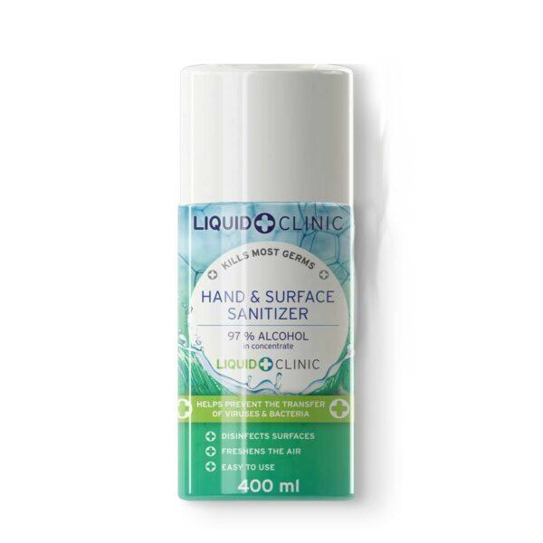 Liquid Clinic 400 ml Hand & Surface Sanitizer Aerosol Spray (97% Alcohol)