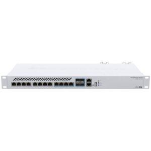 MikroTik Cloud Router Switch 12 Port 10Gbps 4SFP+ Combo Ports   CRS312-4C+8XG-RM