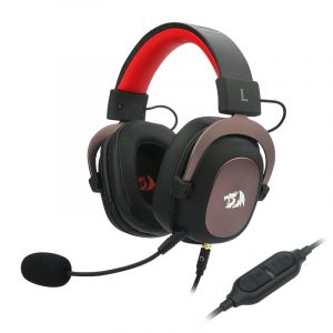 Redragon Zeus USB|Virtual 7.1|2m Cable|3.5mm Detachable Omnidirectional Boom Mic|53mm Driver|Gaming Headset - Black