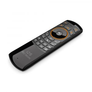 Rii Wireless QWERTY Air Mouse Dual-Sided IR Remote Keyboard - Black