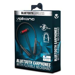 VolkanoAeon + Series Bluetooth Earphones with Neckband - Red