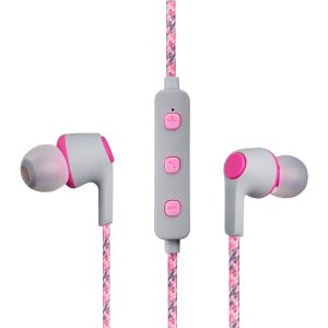 Volkano Moda- Nylon Bluetooth Earphones with carry case-PK