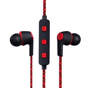 Volkano Moda- Nylon Bluetooth Earphones with Carry case-RD