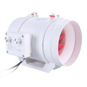 Vtronic 200mm/8 Temperature control AC Inline Duct Fan